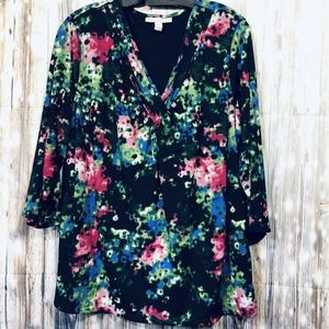 JM Collection Size 2x Womens 3/4 Sleeve Blouse